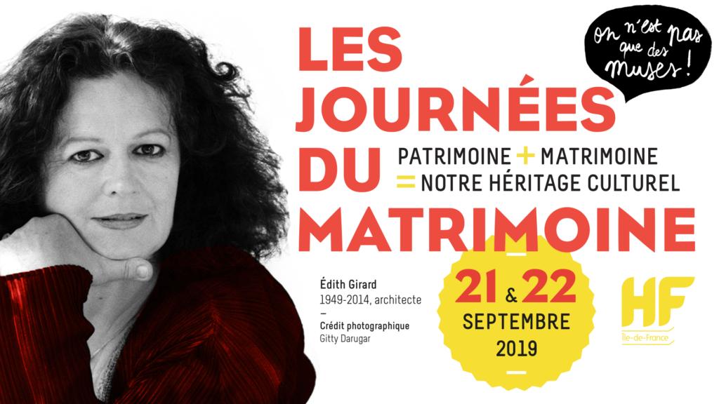 Les Journées du Matrimoine 21 et 22 septembre 2019 – Programme de la 5e édition